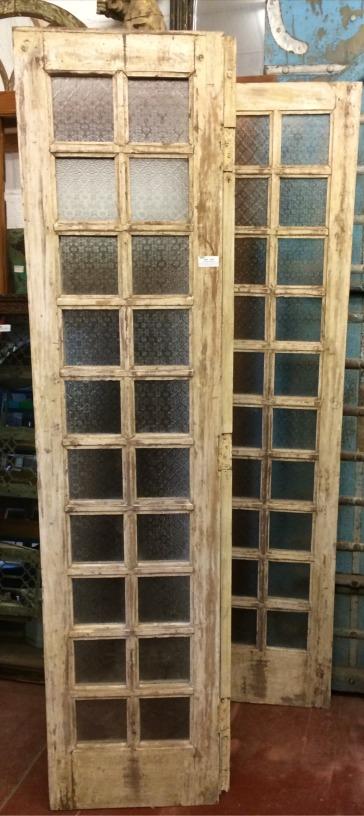 Paravent vitré en bois, 250x48cm