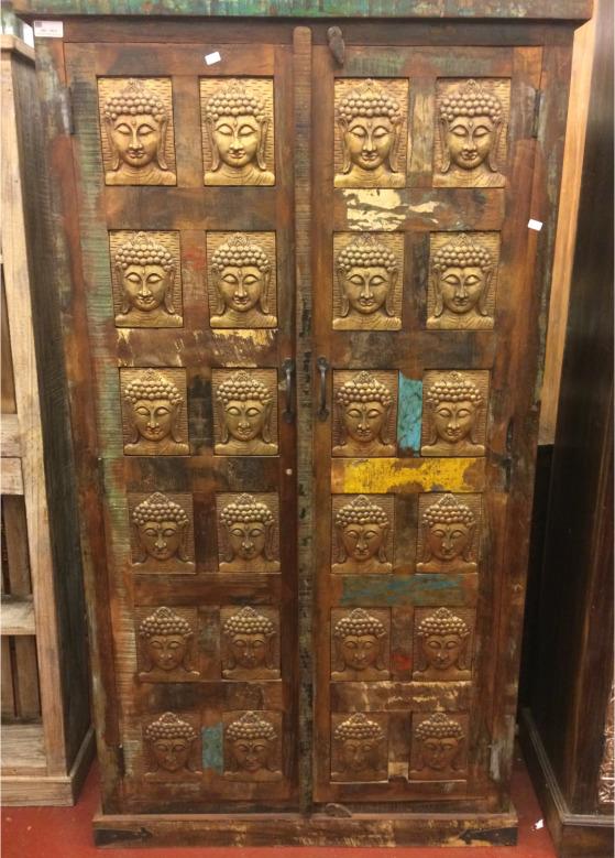 Armoire décor Budha H180x L96x P39
