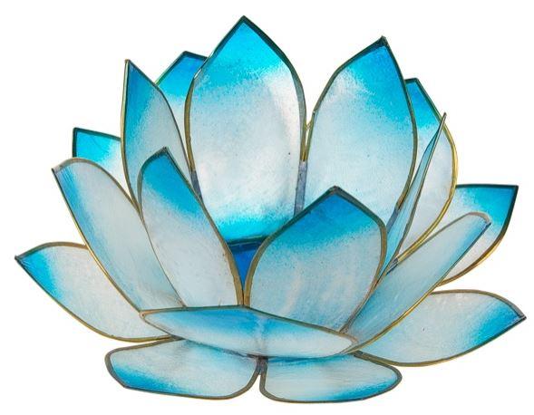 Photophore Lotus Turquoise [14cm/DG]