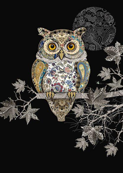Carte double Decorative Owl [Bug Art]