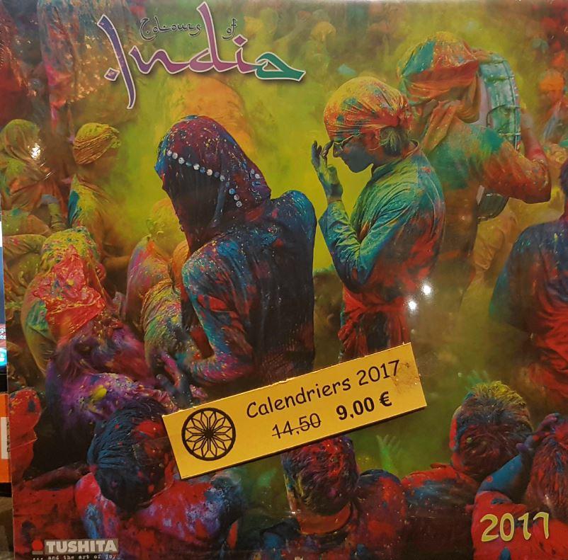 CALENDRIER 2017 [Colours of India/30x30/Tushita] prix réduit