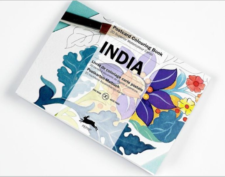 INDIA. Livret de 20 cartes à aquarelle [Pepin van Roojen/Pepin Press]