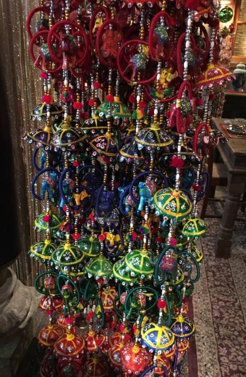 Guirlande 5 parasols/5 cercles+animal/Ganesh, 130cm