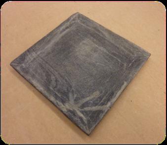 Assiette en pierre, 20x20 cm /destock -30%