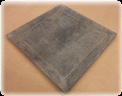 Assiette en pierre, 30x30cm /destock -30%