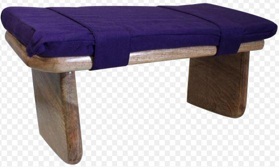 Banc de meditation - coussin violet