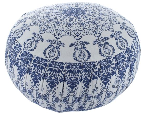 Zafu Mandala Bleu Blanc