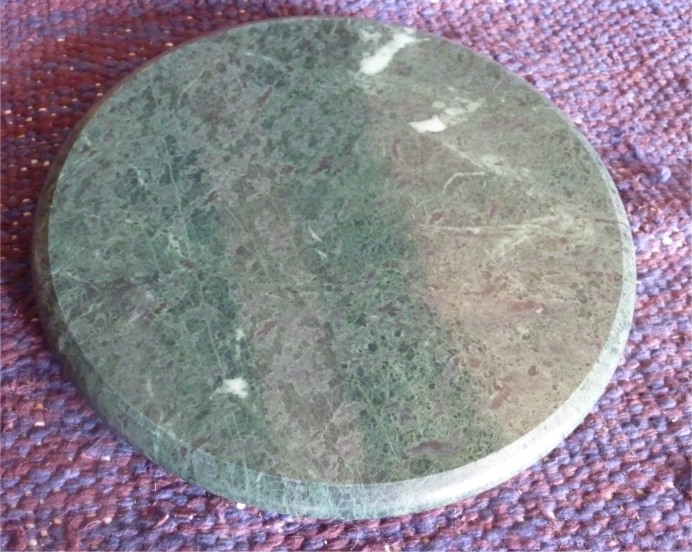 Plateau marbre chapatis diam 28