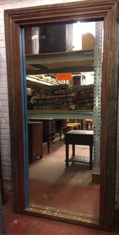 Miroir: cadre ancien en bois, 190x96cm