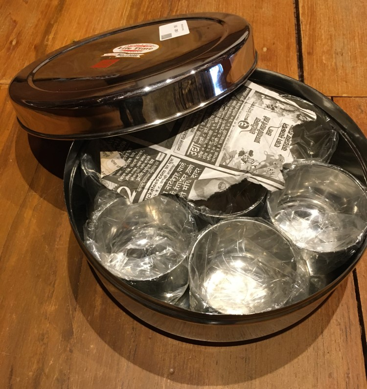 Bte inox 6 pots sauce